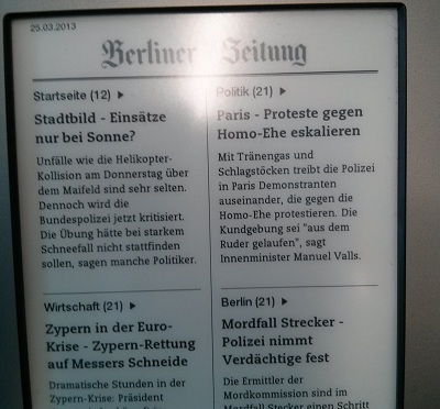 Daily Newspaper on E-Book Reader via Arch Linux